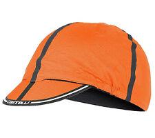 CASTELLI ROS CYCLING CAP atmungsaktiver Sonnenschutz Radmütze Orange