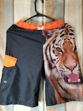 Boys Size 10-12 Tiger King of the jungle Swim Shorts (B1)