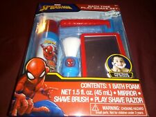 Spiderman bath time play shave set