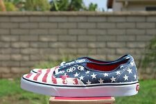 VANS CLASSIC AUTHENTIC SZ 9 AMERICANA DRESS BLUE OFF THE WALL VN 00AIGYD
