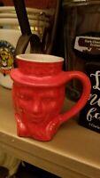 VTG. REPUBLICAN RED Frankoma Pottery- Patriotic Uncle Sam Mug 1976
