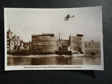 THE ROUND TOWER AND ENTRANCE TO PORTSMOUTH HARBOUR - RAF SEAPLANE