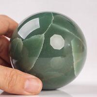 582g 74mm Large Natural Green Aventurine Sphere Quartz Crystal Healing Ball