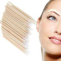 100pcs Microblading Tip Head Swab Eye Makeup Tattoo Wooden Cotton Stick Tool Art