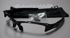 Authentic Oakley Flak Jacket Polished Black Sunglasses Frame & Bag & Nose Pads