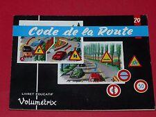VOLUMETRIX N°20 1963 CODE DE LA ROUTE AUTOMOBILE IMAGES ECOLE CHROMOS