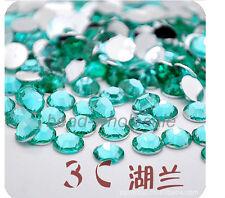 2000pcs Acryl Rhinestone Crystal Half Round Flatback Beads Gems 2/3/4/5mm