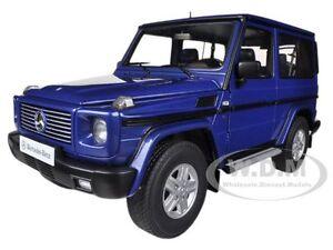1998 MERCEDES G500 G CLASS SWB BLUE 1/18 DIECAST CAR MODEL BY AUTOART 76114
