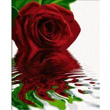 ROTE ROSE 40x50 cm~Malen nach Zahlen Schipper 609130521~modern Art Wasserspiegel