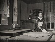 1929 JAPAN Original Photo Gravure ~ INTERIOR DESIGN Architecture Zen Art ARNHOLD