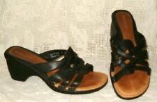 HUSH PUPPIES slide sandals women 10M black EXCELLENT