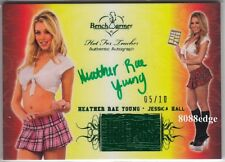 2011 BENCHWARMER HALL PASS AUTO: HEATHER RAE YOUNG #5/10 GREEN AUTOGRAPH PLAYBOY