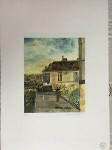 Utrillo Maurice Litografia cm 50x70 con certificate authentic edition 1995