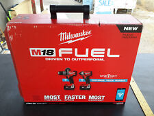 Milwaukee 2796-22 M18 FUEL 2-Tool Hammer Drill + Impact Combo Kit with ONE-KEY
