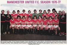MAN UTD FOOTBALL TEAM PHOTO>1976-77 SEASON