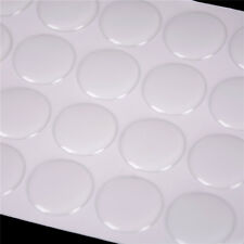 """100Pcs 1"""" Round 3D Dome Sticker Crystal Clear Epoxy Adhesive Bottle Caps Craft"""