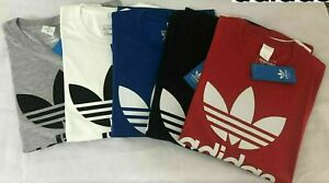 Adidas Men's Original Trefoil Crew Neck Half Sleeve Cotton T Shirt