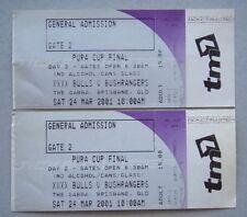 XXXX Bulls v Bushrangers The Gabba Pura Cup Final 24 Mar 2001 2 X Cricket Ticket