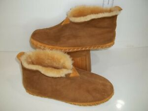 MENS LL BEAN, SZ 11 SHERPA LINED SLIPERS/SHOES