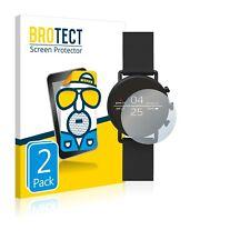 2x Display Schutz Folie für Skagen Smartwatch Falster 2 Matt Entspiegelt