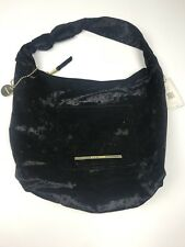 Steve Madden Black Velour - Velvet Hobo Handbag Women's Purse New with Tags  $98