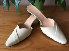 Bally Trifola cream all leather slip on mules UK 5 EU 38 New RRP £160 Bridal