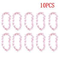 10X Hawaiian Tropical Leis Flower Garlands Fancy Dress Necklace Accessories