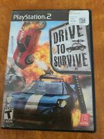 Drive To Survive (PlayStation 2 PS2, 2006) Complete Black Label Quickship