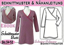 """Longshirt/Kleid """"Betti"""" pdf.Schnittmuster und Nähanleitung Gr.:34-52"""