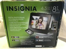 "Insignia 8"" Digital Photo Frame with Apple Ipod Dock-Black"