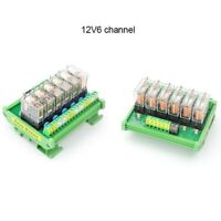 OMRON 6 Channel Relay Module SPDT 6 Ways Driver Board Socket DC 12V 16A 1NO+1NC