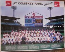 1983 All Star Game Poster w/ 50 Hall of Famers in Uniform Comiskey Park Coke