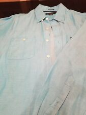 Men's U.S POLO ASSN.  Long Sleeve Blue White Stripes Button-down Shirt L