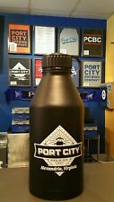 Port City Black Matte double walled 64oz stainless steel growler with extras!