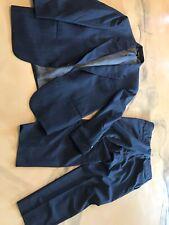 Nino Cerruti Rue Royale Mens Suit Waist 19 Flat 38 Waist Inseam 28.5