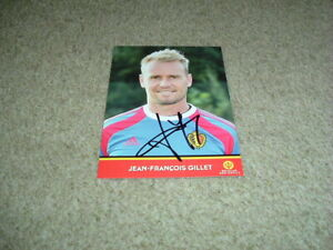 JEAN-FRANCOIS GILLET - TORINO & BELGIUM - SIGNED OFFICIAL 6 X 4 PHOTO CARD