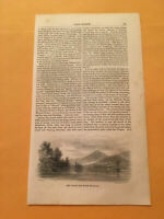 KQ) 1853 Harper's Monthly Black Mountain Lake George New York Engraving