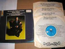MY FAVOURITE VIOLIN CONCERTOS ISAAC STERN 4 LP BOX SET+LIBRETTO CBS 77418