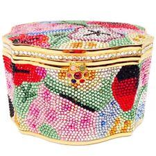 Judith Leiber Sweatmeat Box Pop Art Novelty Gold Minaudiere Evening Bag Vintage