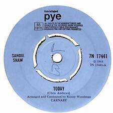 "Sandie Shaw - Today - 7"" Record Single"
