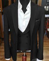 Black Men's Suit Formal Business Prom Party Dinner Tuxedo Wedding Suit Custom