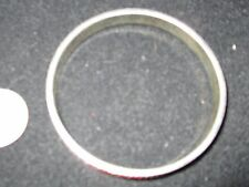 Bangle - Bracelet - Single Piece, Silver Plated, with red fabric, mirrors, etc.