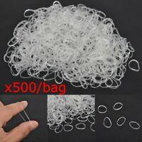 Lot 500x Mini Klar Haargummis Rastas Gummi Band Dreads Haarschmuck transparent