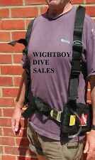 Scuba diving TECH weight HARNESS diver dive gear BELT system LEAD pocket POUCH !