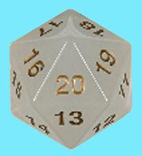 KOPLOW GAMES 55MM TRANSLUCENT PEARL w/ GOLD DIE D20 Countdown Dice MTG Jumbo D&D