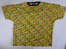 Vintage - Versace V2 - Butterflies - T Shirt - 1990's - Made in Italy - L  Large