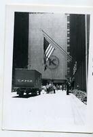 1962 snapshot Photo  Pittsburgh PA street scene Eazor Truck
