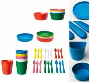 IKEA Kalas Children's Kids Plastic Plate Cups Bowls Cutlery Set or Individual