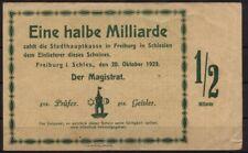 [15725] - Notgeld FREIBURG i. SCHLESIEN (heute: Świebodzice), Stadt, 1/2 Mrd Mk,