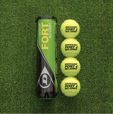 8 Dunlop Fort All Court Tennis Balls - 4 Ball *2 Can Mid Yellow